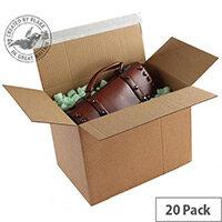 Blakes Packing Cardboard Boxes Peel & Seal 345x256x130mm Kraft (Pack of 20)