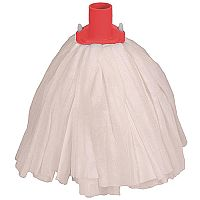 Robert Scott & Sons Big White Socket Mop Head T1 Non-woven Colour-coded Red [Pack 10]