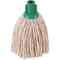 Robert Scott & Sons Socket Mop Head for Smooth Surfaces PY 12oz Green Ref PJYG1210 [Pack 10]