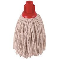 Robert Scott & Sons Socket Mop Head for Smooth Surfaces PY 12oz Red Ref PJYR1210 [Pack 10]