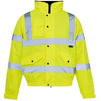 Supertouch High Visibility Standard Jacket Storm Bomber with Warm Padded Lining Small Yellow Ref 36841