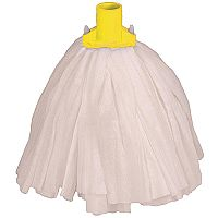 Robert Scott & Sons Big White Socket Mop Head T1 Non-woven Colour-coded Yellow [Pack 10]