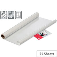 Nobo 600x800mm Instant Whiteboard Dry Erase Sheets with 25 Sheets Per Roll Gridded
