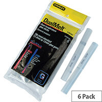 Stanley 11.3x100mm Dual Temp Glue Sticks Pack 6