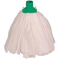Robert Scott & Sons Big White Socket Mop Head T1 Non-woven Colour-coded Green [Pack 10]