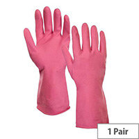 Supertouch Rubber Gloves  Large Household Latex Gloves Pink