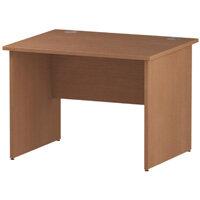 Rectangular Panel End Office Desk Beech W1000xD800mm