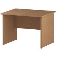 Rectangular Panel End Office Desk Oak W1000xD800mm