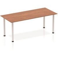 Rectangular Table Walnut with Silver Frame 1800x800mm