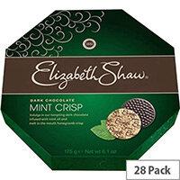 Elizabeth Shaw Mint Crisps Dark Chocolates Dark Individually Wrapped Pack of 28