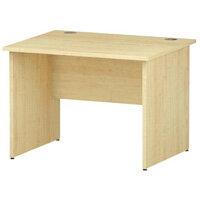 Rectangular Panel End Office Desk Maple W1000xD800mm