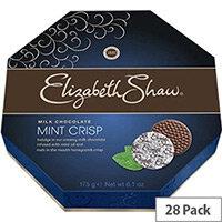 Elizabeth Shaw Mint Crisps Milk Chocolates Individually Wrapped Pack of 28