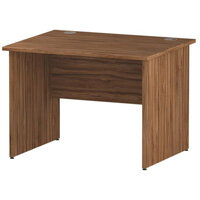 Rectangular Panel End Office Desk Walnut W1000xD800mm