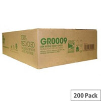 The Green Sack Refuse Sacks Extra Heavy Duty 15kg Capacity Black Pack of 200