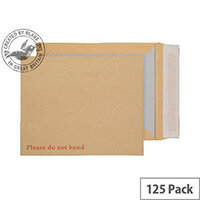 Purely Packaging Manilla Envelopes Board Backed Peel and Seal 267x216mm (Pack 125)