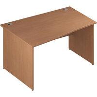 Wave Panel End Left Hand Office Desk Beech W1400mm