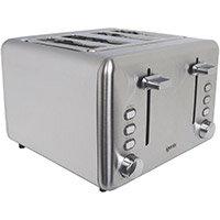 Igenix 4 Slice Long Toaster Stainless Steel Ref IG3204