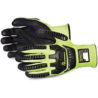 Superior Glove Tenactiv Anti-Impact Hi-Vis Black Widow 7 Yellow Ref SUSTAGYPNVB07