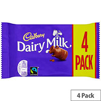 Cadbury Dairy Milk Bar Chocolate Bars Ref 4066186 Pack of 4