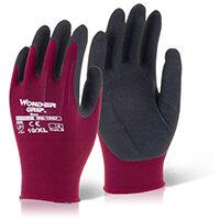 Wonder Grip Glove Neo Oil/Wet Resistance Large Red Pack of 12 Ref WG1857L