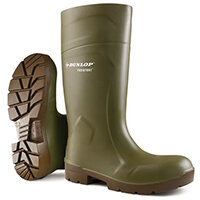 Dunlop Purofort Multigrip Safety Wellington Boots Size 11 Green Ref CA6183111