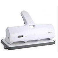 Rapesco ALU 40 Hole Punch Heavy Duty 4-Hole White