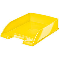 Leitz WOW Letter Tray Stackable Glossy Yellow Ref 52263016