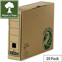 Fellowes R-Kive Earth A4 Transfer File Recycled FSC Tabseal Lid Pack 20