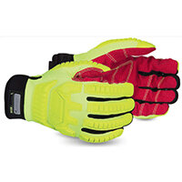 Superior Glove Clutch Gear Anti-Impact Hi-Vis M Yellow Ref SUMXHV5VSBM