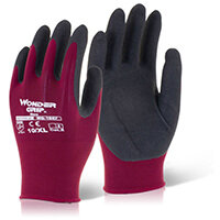 Wonder Grip Glove Neo Oil/Wet Resistance Medium Red Pack of 12 Ref WG1857M