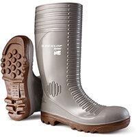 Dunlop Acifort Safety Wellington Boots Heavy Duty Size 12 Grey Ref A242A3112