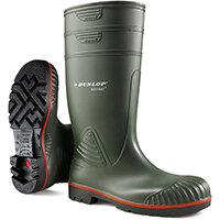 Dunlop Acifort Safety Wellington Boots Heavy Duty Size 9 Green Ref A44263109
