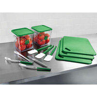 Food Service Kit 12 Piece Colour-Coded Green