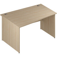 Wave Panel End Left Hand Office Desk Maple W1400mm