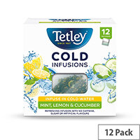 Tetley Cold Infusions Mint Lemon & Cucumber Ref 1603A Pack of 12