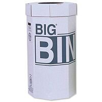 Acorn Big Recycling Bins Flat-Packed Recycled Board Material 160L [Pack 5]