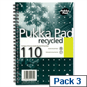 Pukka Pad A5 Wirebound Notebook Recycled Punched RCA5/110 Pack 3