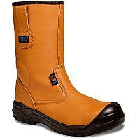 Supertouch Black- Orange Rigger Boots Toecap Size 12