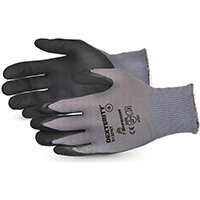 Superior Glove Dexterity Black Widow Grip High Abrasion 8 Black Ref SUS13PNT08