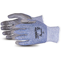 Superior Glove Tenactiv Composite Knit Cut-Resistant PU 9 Grey Ref SUS15TAFGPU09