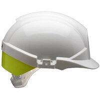 Centurion Reflex Safety Helmet White with Yellow Rear Flash White Ref CNS12WHVYA