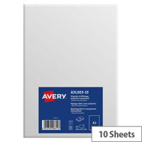 Avery A3 Display Labels Transparent Pack of 10
