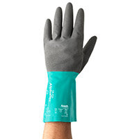 Ansell AlphaTec Size 7 Nitrile Coated Medium-Duty Work Gloves Grey/Green