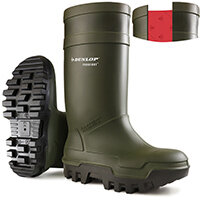 Dunlop Purofort Thermo Plus Safety Wellington Boot Size 10 Green Ref C66293310