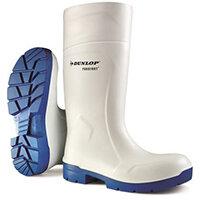 Dunlop Purofort Multigrip Safety Wellington Boots Size 9 White Ref CA6113109