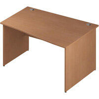Wave Panel End Right Hand Office Desk Beech W1400mm