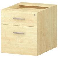 2 Drawer Fixed Desk Pedestal Maple