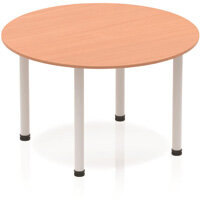 Circular Table Beech with Silver Frame 1200x1200mm