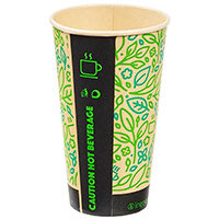 Ingeo Ultimate Eco Bamboo 16oz Biodegradable Disposable Cups Ref 0511225 Pack of 25