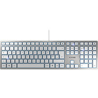 Cherry KC6000 Wired Slim Keyboard Silver Ref JK-1600GB-1